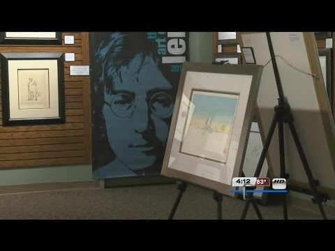 John Lennon Art work on display in Omaha