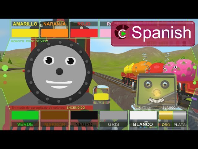 Learn Colors with Rusty & Shawn the Train  (SPANISH) - Aprender los colores con Rusty y  Shawn Videos De Viajes