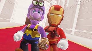 Super Mario Odyssey - Iron Mario & Thanos Luigi Final Boss + Darker Side