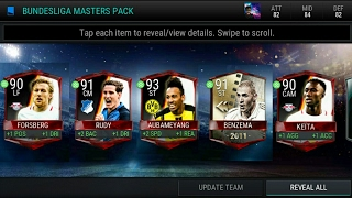 Fifa mobile - Bundesliga master pack opening , 4 masters players  , UFB pull