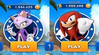 Sonic Dash Gameplay - BLAZE VS KNUCKLES
