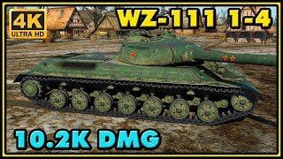 World of Tanks | WZ-111 model 1-4 - 9 Kills - 10,2K Damage - 1 VS 5 Gameplay