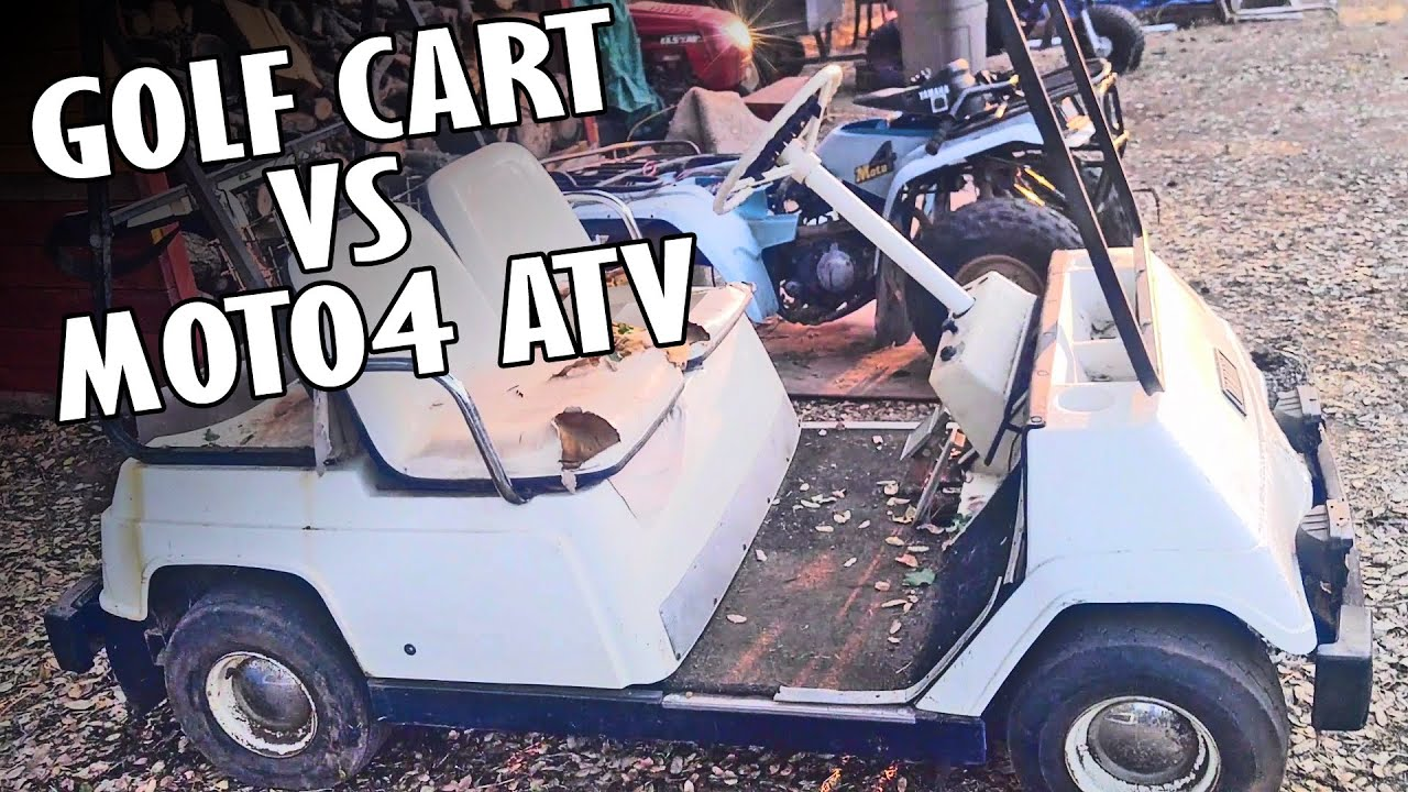 Two Stroke Yamaha G1 Golf Cart VS Four Stroke Moto4 ATV - YouTube on super golf carts, modified golf carts, fast golf carts,