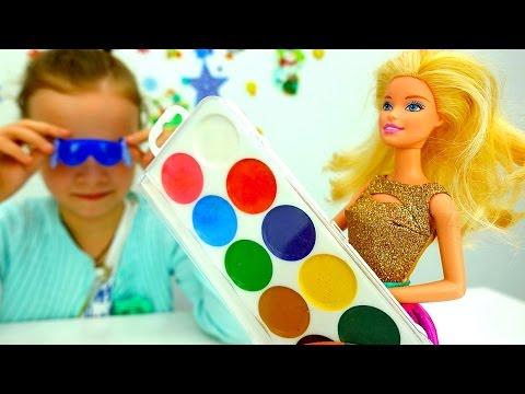 Игры для девочек Подарки на #НовыйГод! Кукла #Барби в магазине! Тролли из мультика Видео с игрушками