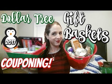 DOLLAR TREE/COUPONING GIFT BASKETS ON A BUDGET! HOW TO GIFT FROM YOUR STOCKPILE!