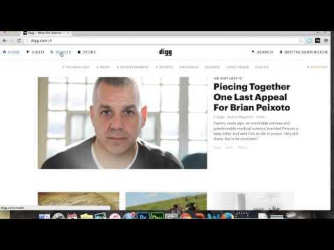 Digg Reader Set Up