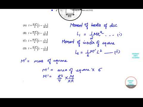 IIT JAM PHYSICS 2017 SEC A  Q12 PAPER YEAR SOLVE,LECTURES COMPLETE ANSWER SOLUTION