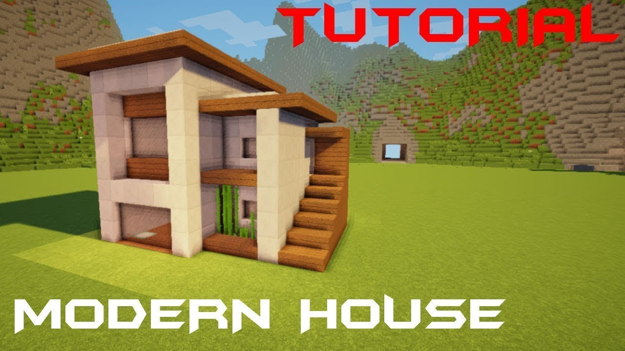 Minecraft how to build a small modern house tutorial interior 19