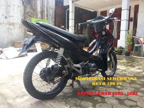 Modifikasi Honda Revo 100cc, Velg Tapak Lebar JARI - JARI