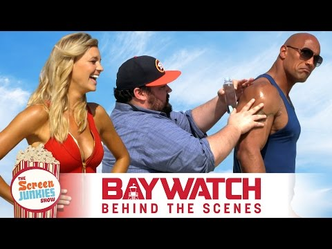 The Rock + Zac Efron + Oil = Best Baywatch Interview