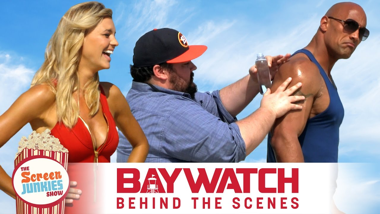 super-fan-oils-up-the-rock-on-set-of-the-baywatch-movie