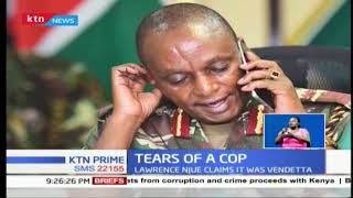 Former Police Constable Lawrence Njue is seeking prosecution of his former bosses
