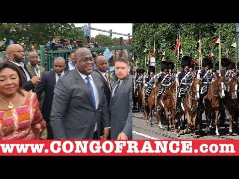 BRUXELLES: FATSHI quitter l'aéroport est descendu pour saluer les Congolais, FAYULU Très Taché