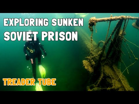 SCUBA DIVING A CREEPY SUNKEN SOVIET PRISON!! RUMMU IN ESTONIA