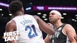 Joel Embiid wants to send the Nets home miserable in Game 5 - Stephen A. | First Take