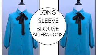 How to alter a Long Sleeve Blouse | Alterations