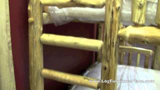 Twin Over Full Log Bunk Bed From The Cedar Lake Collection