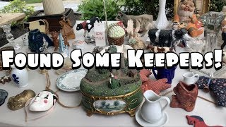 NEIGHBORHOOD YARD SALE SHOPPING! | Buying To Resell & Keep! | Shop With Me + Haul