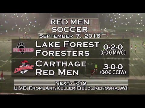 Carthage Men's Soccer vs. Lake Forest 2016_9_7