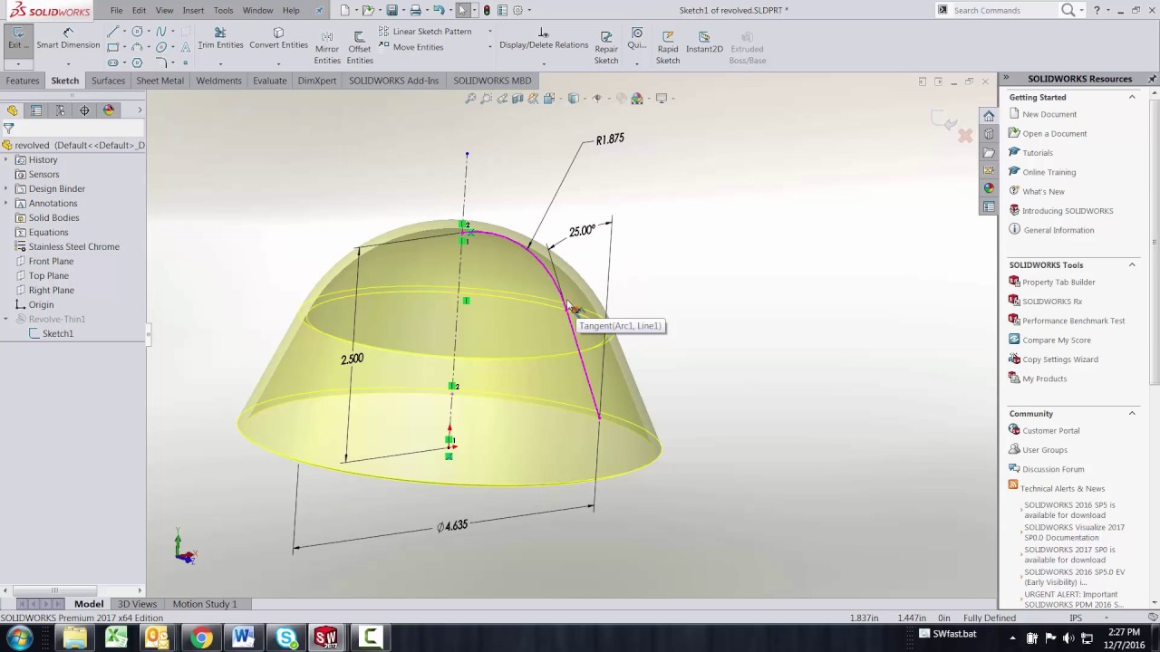 SOLIDWORKS - Fit Spline