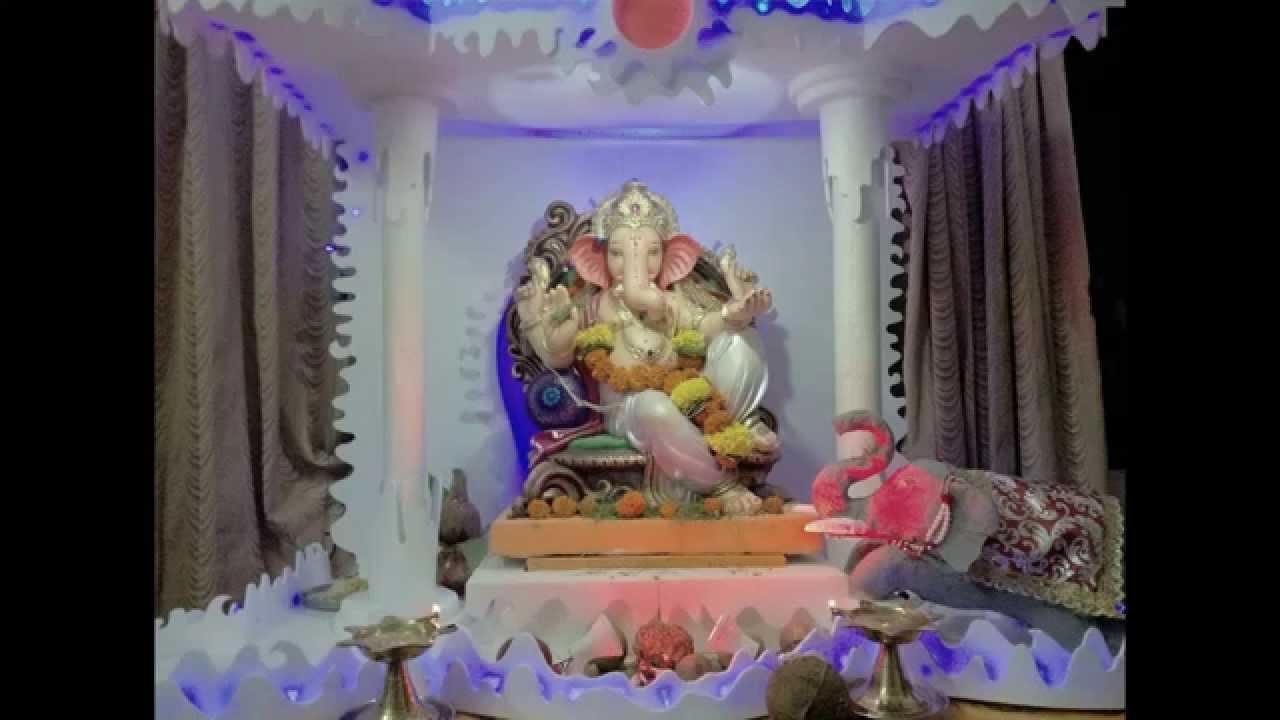 Ganpati Decoration 2015 Santosh Kadam Youtube