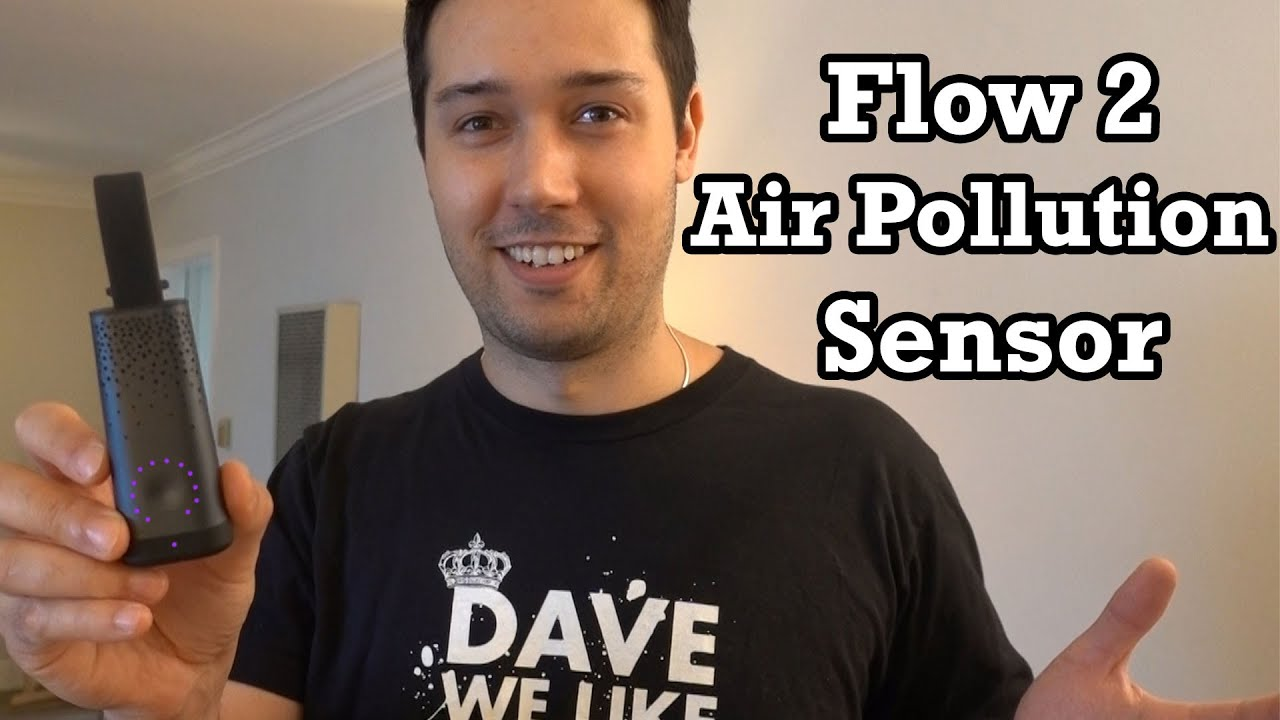 Flow 2 Unboxing Review Setup Air Pollution Sensor Monitor Quality Report  PM1 PM2.5 PM10 VOC NO2