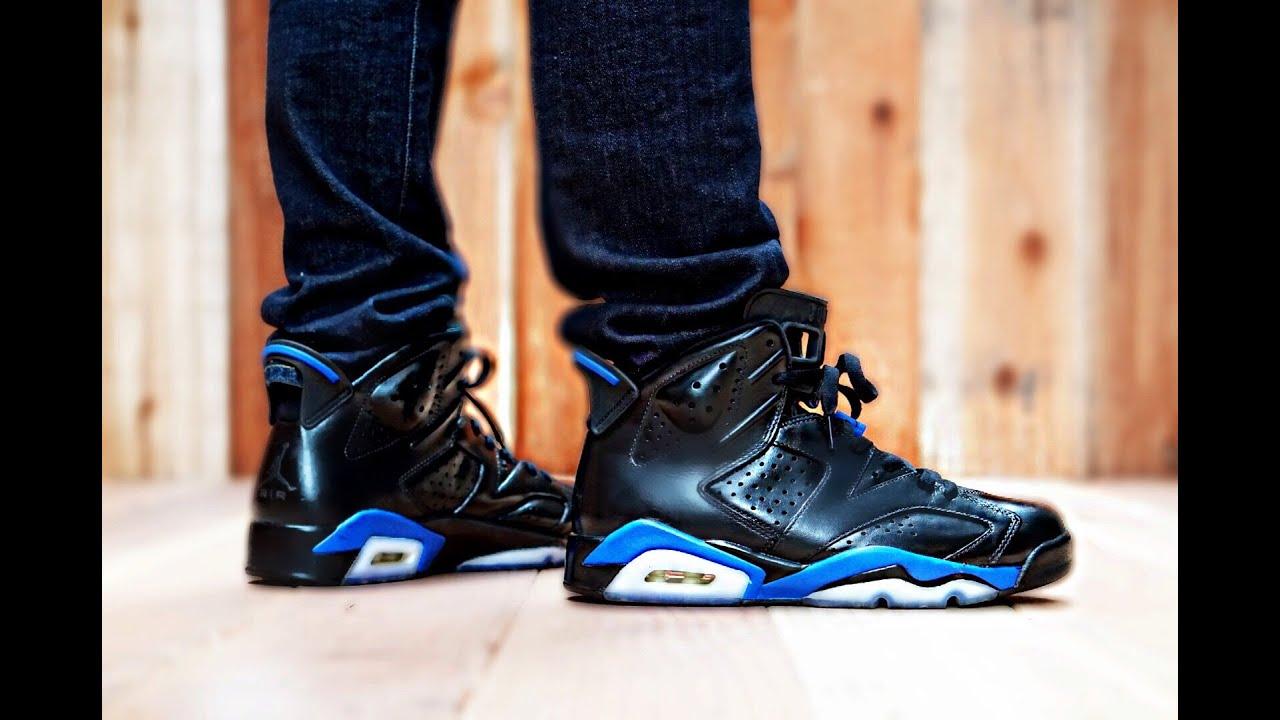 retro 6 black and blue