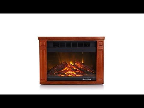 Heat Surge Mini Glo Infrared LED Fireplace Heater - YouTube