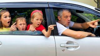 Мы уже приехали? Мы в машине - Детская песенка от Алекса и Насти | Are we There Yet?