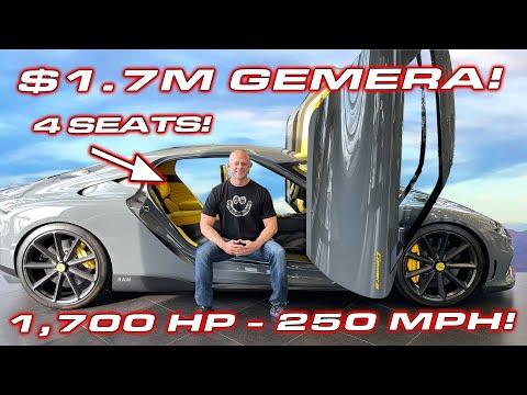 INSIDE LOOK * $1.7M – 1,700HP 4 SEATS – 250 MPH – Koenigsegg Gemera