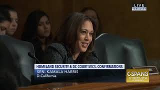 ICE and KKK 'Are You Aware Of Parallels?' Sen Kamala Harris