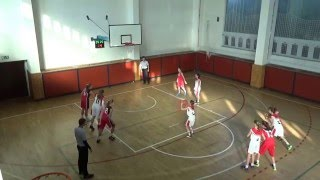 2016 0129 Basket U13 OP U13 Studánka Pardubice - Bižuterie Jablonec 1Z