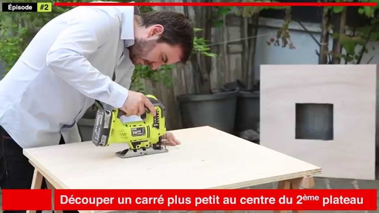 Fabriquer sa table basse en bois  YouTube -> Table Basse Jardin Metal