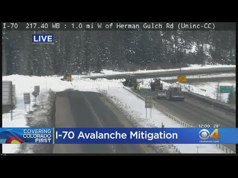 Colorado Avalanche Mitigation On Interstate 70: Highway Closed Around Eisenhower Tunnel