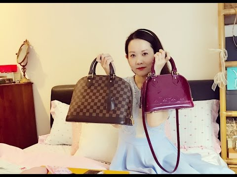 Louis Vuitton Alma Pm Review Comparison With Alma Bb What Fits Youtube
