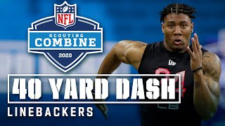 Linebackers Run the 40-Yard Dash at the 2020 NFL Scouting Combine
