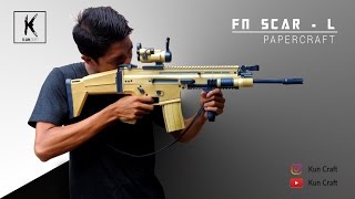 FN SCAR-L l Full Papercraft Build by Kun Craft