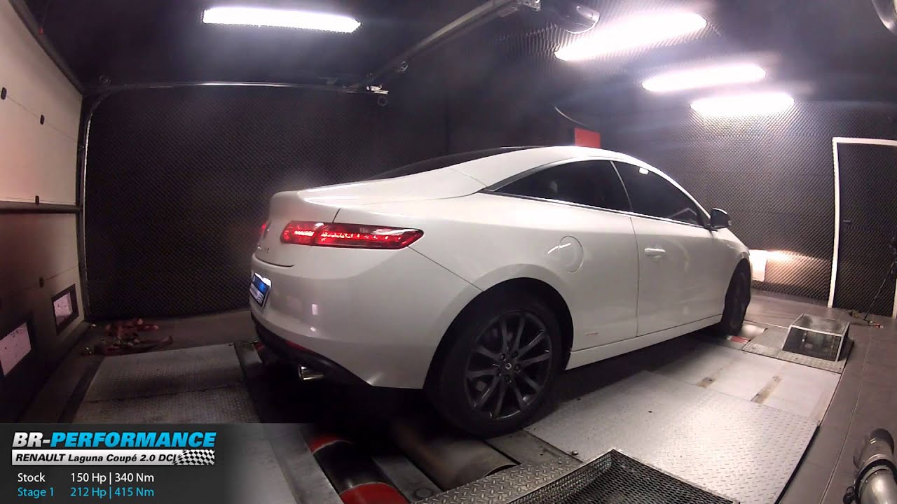 reprogrammation moteur renault laguna 3 coup 2 0 dci 150hp 212hp par br performance youtube