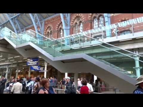 Eurostar service (video only) from St. Pancras London to Brussels Midi (then Antwerpen Centraal)