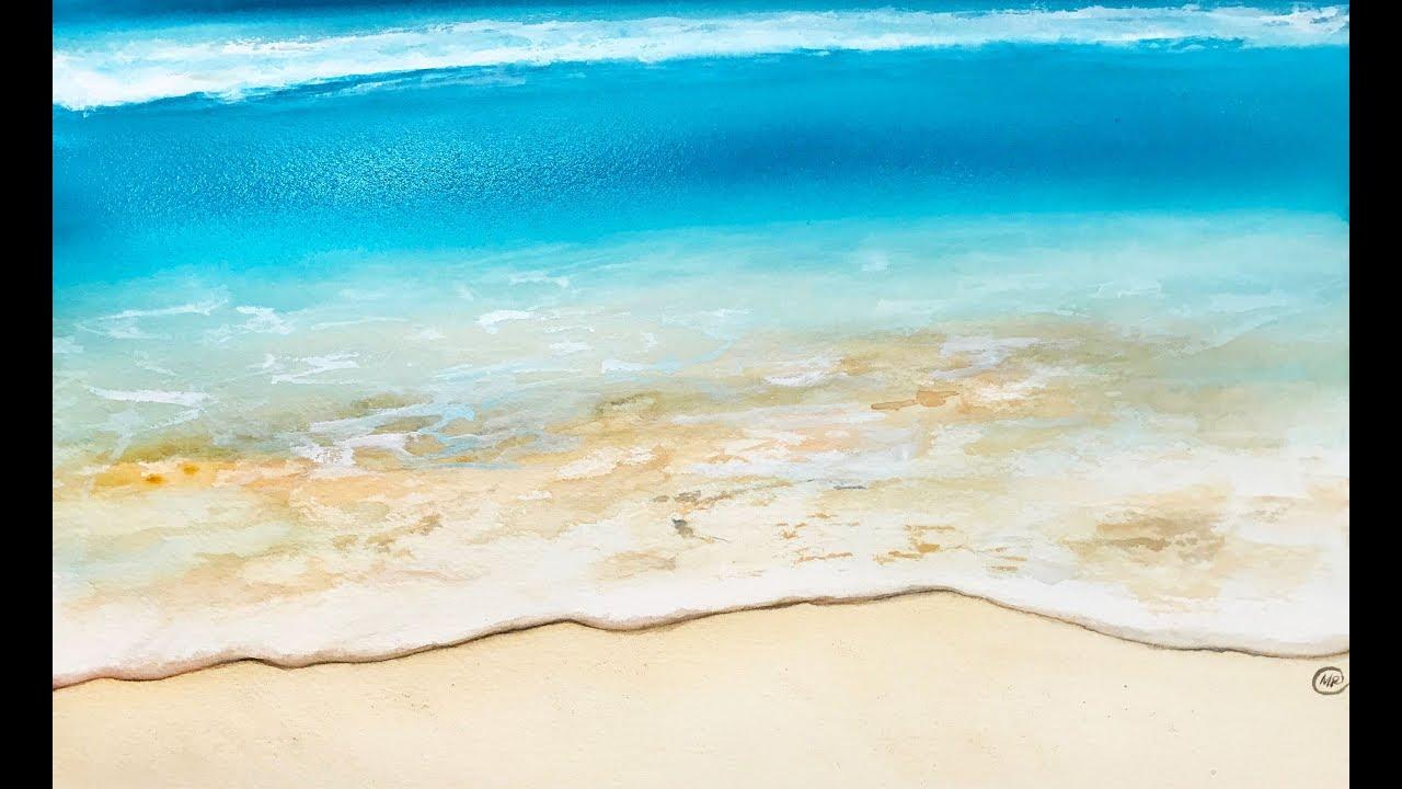 Beach In Watercolors Painting Tutorial