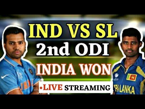 Live India Vs Sri Lanka 2nd ODI , India win the 2nd ODI.