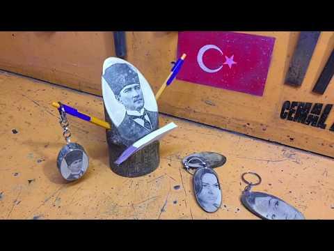 Benzin ⛽️ Ile Transfer Baskı Yöntemi!! Atatürk Resimli.