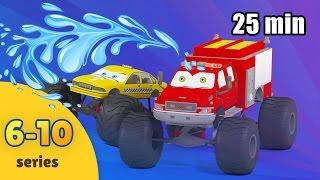 Monster Truck for Children Cartoon Compilation | Monster Truck Kids Video | Five Episodes