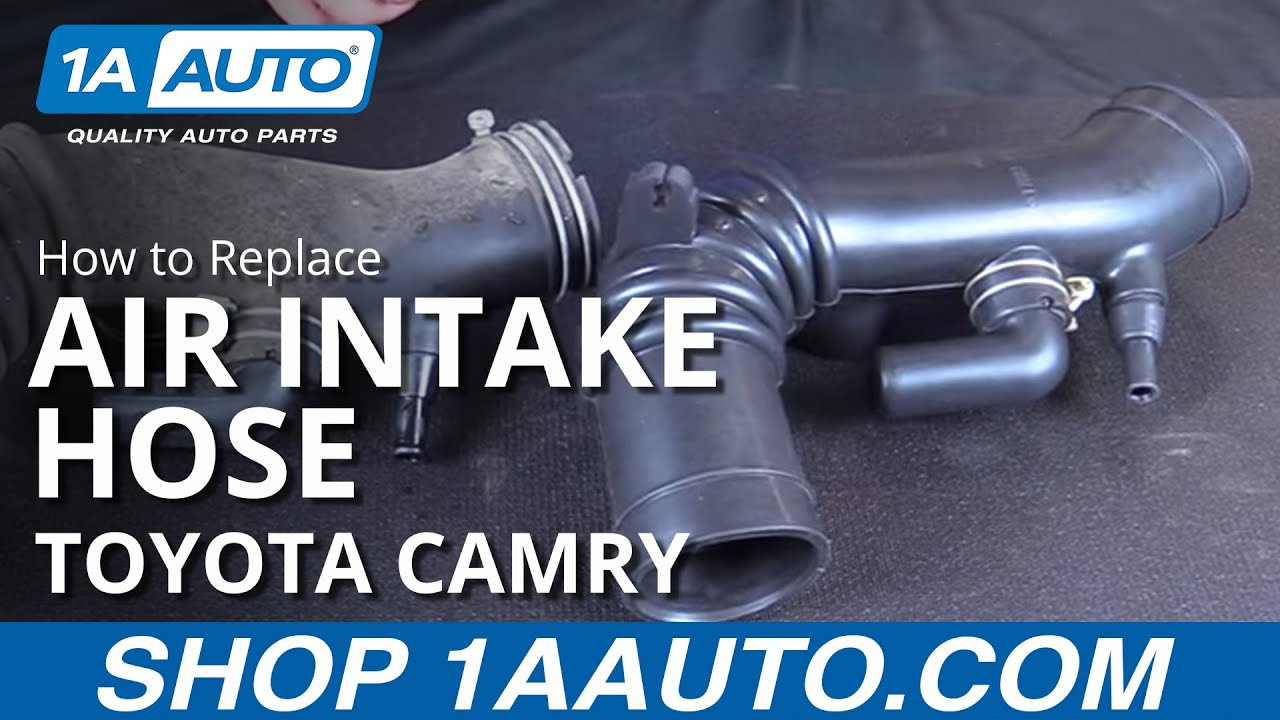 hight resolution of how to replace install new air intake hose 1997 99 toyota camry