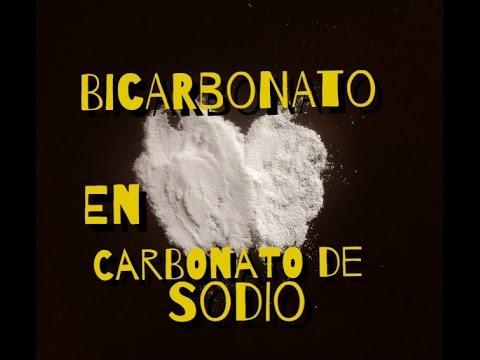 Convertir Bicarbonato De Sodio En Carbonato De Sodio Turn Baking Soda Into Washing Soda