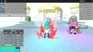 amostrando o MUI no Dragon ball rage (Roblox)