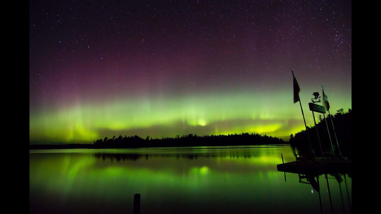 aurora borealis northern lights ely minnesota 9 3 15 youtube