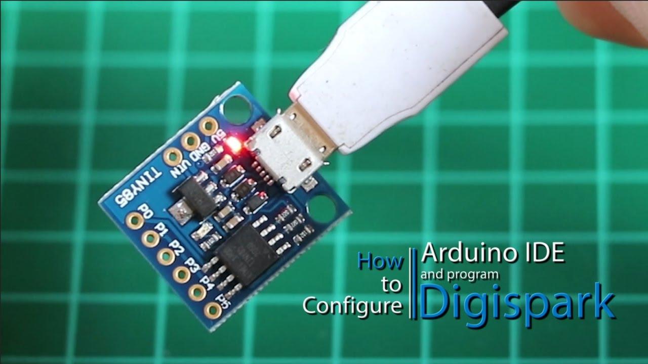 How to configure arduino ide and program digispark