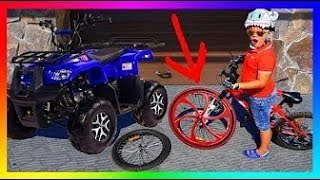 The Wheel Feel of FUNNY BABY Ride On POWER WHEEL Quad Bike - Changing Wheel