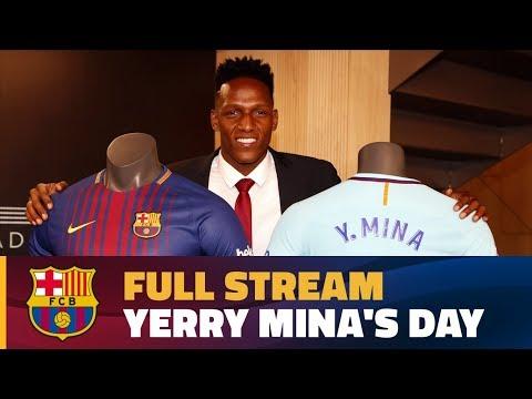 LIVE: Follow Yerry Mina's unveiling at Camp Nou
